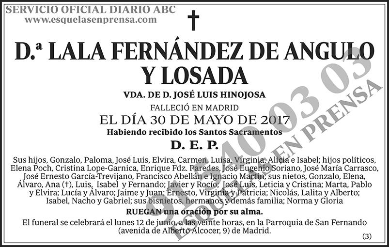 Lala Fernández de Angulo y Losada